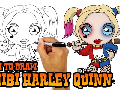 How to Draw Harley Quinn | Suicide Squad