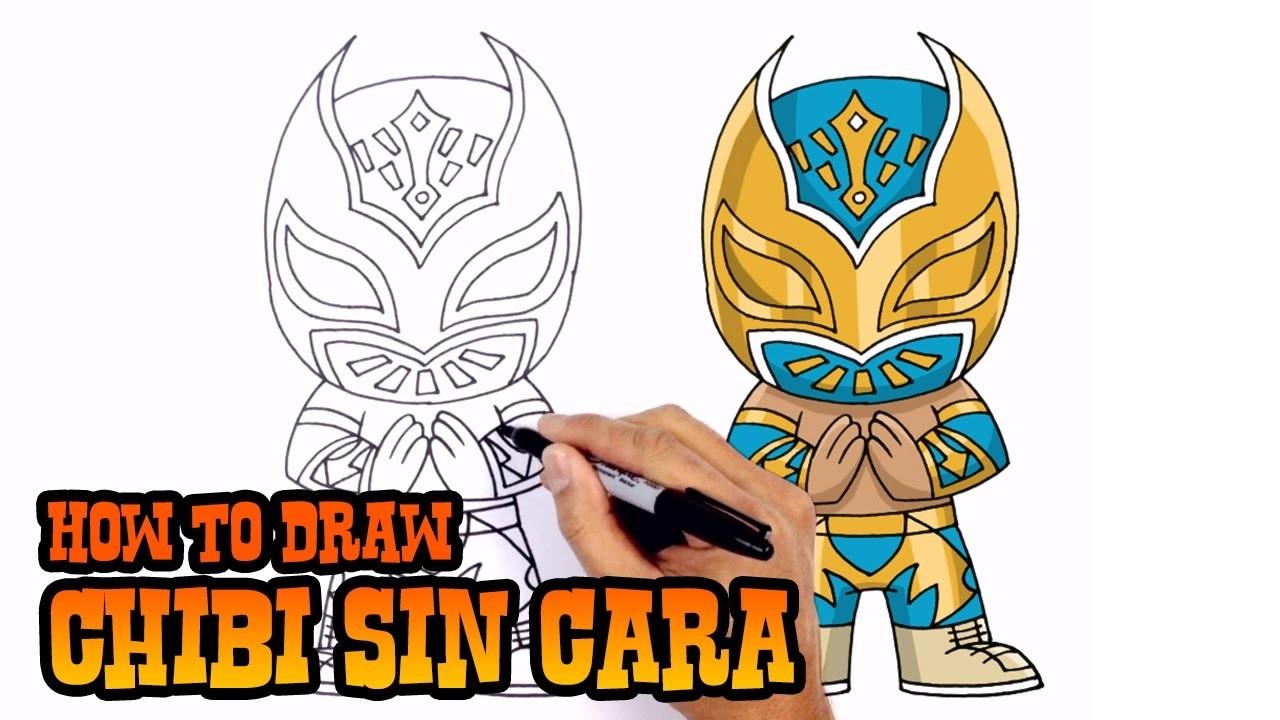 How to Draw Sin Cara   WWE