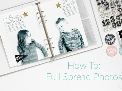 How To: Full Spread Photos