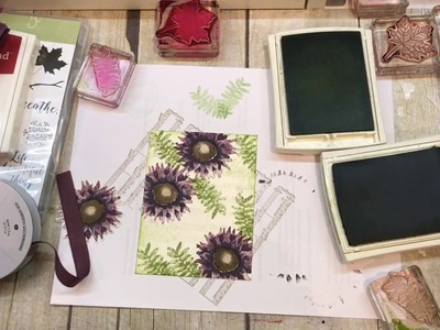 How to make 2 fall cards: Leaves and Flowers with Stampin Up's Colorful Seasons and Painted Harvest