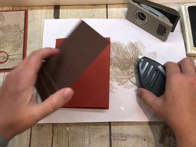How to make 2 simple Fall Leaf Cards--one masculine and one feminine