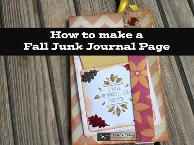 How to make a Fall Junk Journal Page