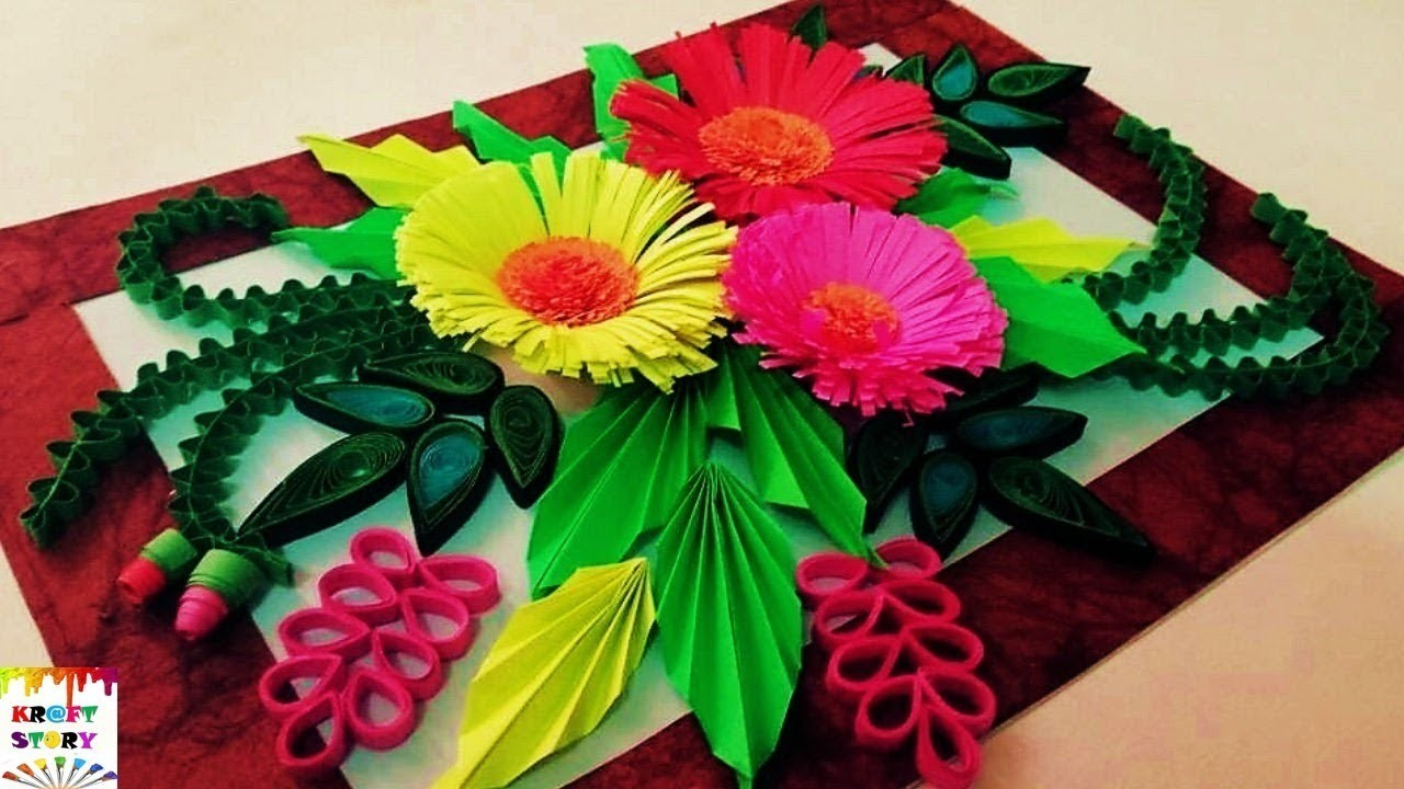 How to make a Quilling wall frame