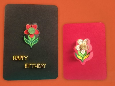 How To Make Flower Danglers | Paper Quilling Greeting Card