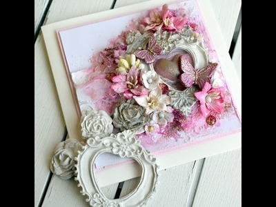 Make your own decorations with paperclay and moulds- cardmaking