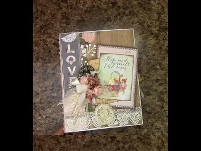 MINI ALBUM OVERVIEW FOR INSPIRATION with DCWV The Happy Stack -   DESIGNS BY SHELLIE