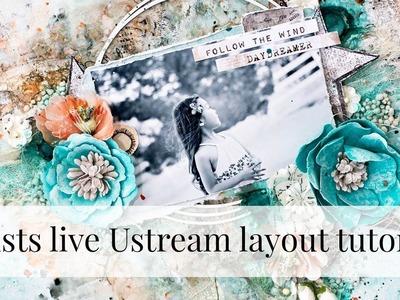 Mixed media layout tutorial - Artists Live Ustream