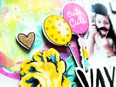 Mixed Media Scrapbooking With Shimmerz- Crate Paper