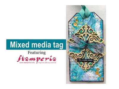 Mixed Media Tag for Stamperia