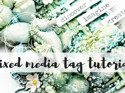 Mixed media tag tutorial - How to add texture to mixed media projects. Discover - Imagine - Create