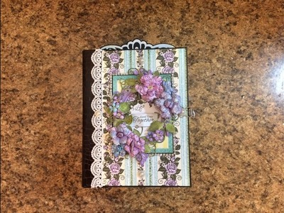PART 2 TUTORIAL 7 X 9 MINI ALBUM WITH HEARTFELT CREATIONS BLUSHING ROSE PAPER DESIGNS BY SHELLIE