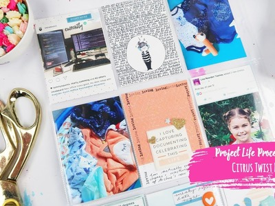 Project Life Process Video ~ May Citrus Twist Kit 1  + + INKIE QUILL
