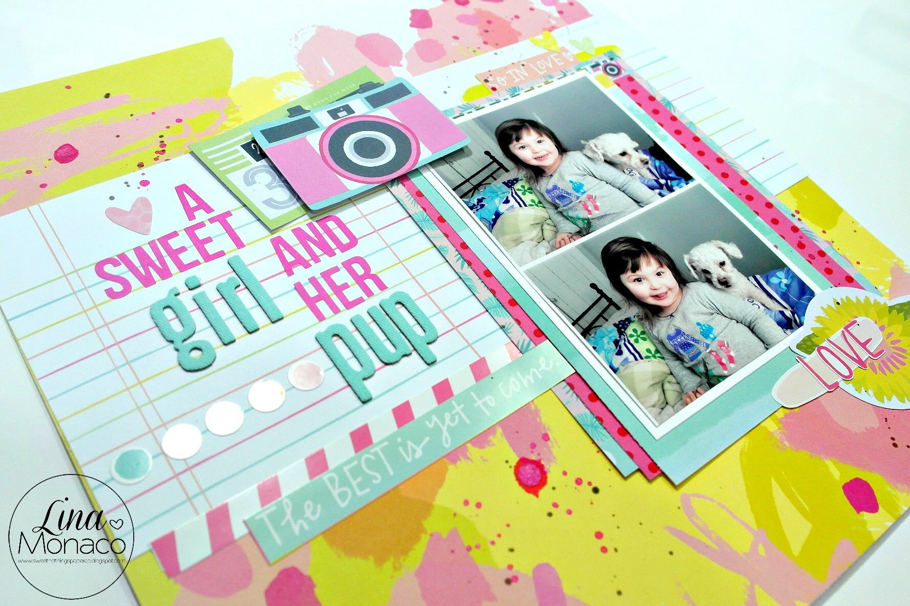 Scrapbook Layout Process #34: A Sweet Girl and her Pup