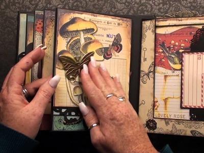 Scrapbook Mini Album Woodland ( ephemeras garden ) english version
