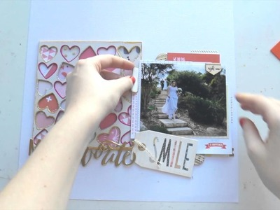 Scrapbooking Process Video ~ My Favourite Smile ~ August Hip Kit