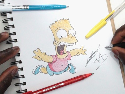 SKETCH SUNDAY #26 - How To Draw Bart Simpson - The Simpsons - DeMoose Art