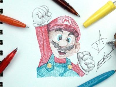 SKETCH SUNDAY #27 - How To Draw Super Mario - DeMoose Art