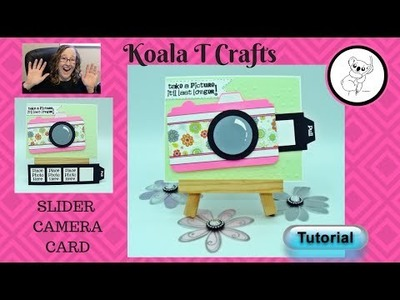 Slider Camera Card TUTORIAL with FREE template! Interactive card Make it uniquely yours!
