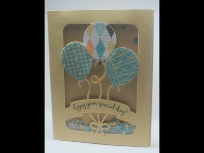 Stampin' Up! Balloon Pop-Up Shaker Card