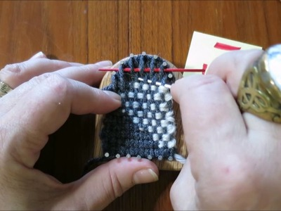Thumbelina Loom Clasped Weft Weaving Techniques