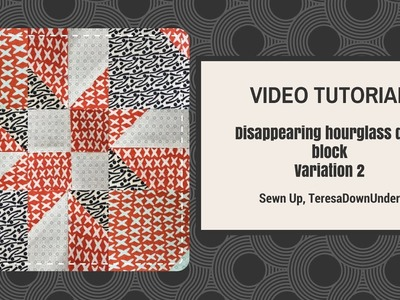 2-minute video tutorial: Disappearing hourglass version 2