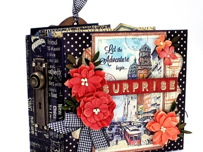 A Surprise Mini made with Graphic 45 Policy Envelopes and City Scapes