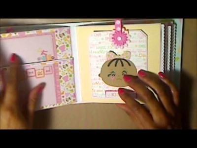 Baby  Girl Mini Album  - Cricut Baby Steps Cartridge