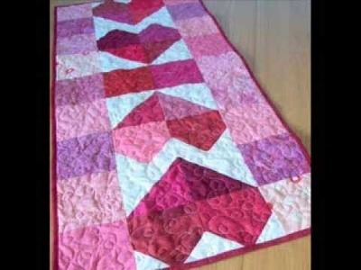 Charming Hearts Table Runner Pattern - Quilted Table Runner - Pattern Presentation