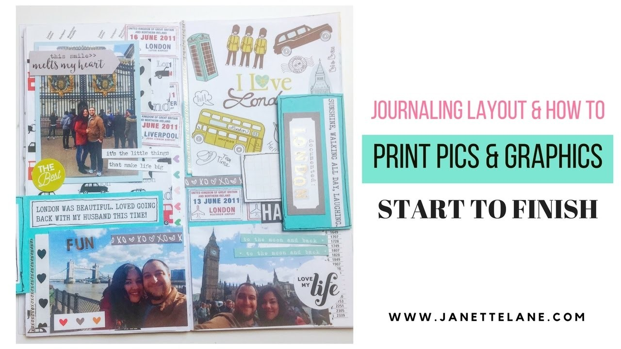 Creative Journaling Process: How to Print Pics & Graphics Tutorial