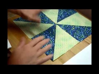 EPISODE 15 - My 10 minute Pinwheel Quilt Block - explained in about 20 minutes!! :)