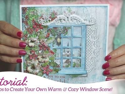 EZ Tips to Create Your Own Warm & Cozy Window Scene