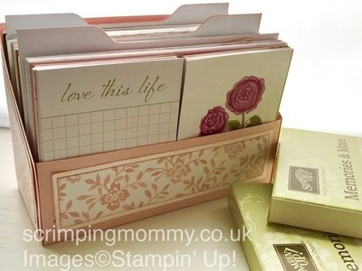 File box and dividers for Memories and More cards