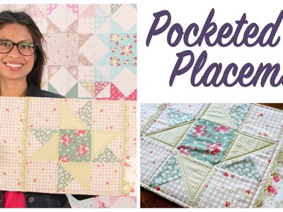 How to Make a Pocketed Placemat with Lace Embellishment by Jera Brandvig for Lecien Fabrics
