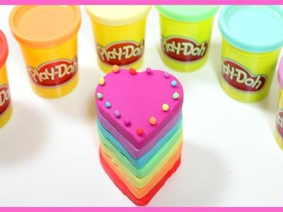 How to make PlayDoh Rainbow Cake
