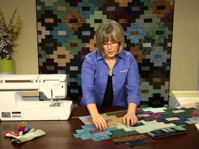 """How to Make Quilting Quickly's """"Mineral Springs"""" Quilt: An Interconnected Block Patchwork Quilt"""