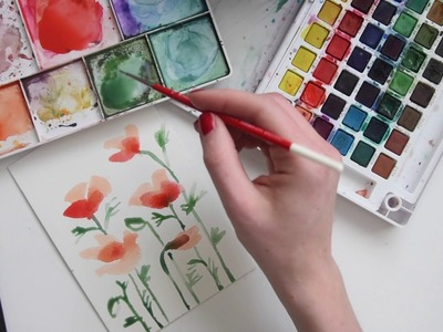 How to Paint Watercolor Poppies