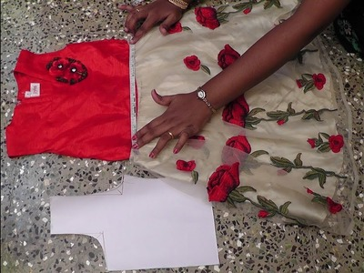HOW TO TAKE MEASUREMENT FOR KIDS FROCK FROM OUR OLD FROCK DRAFTING AND CUTTING IN SIMPLE METHOD