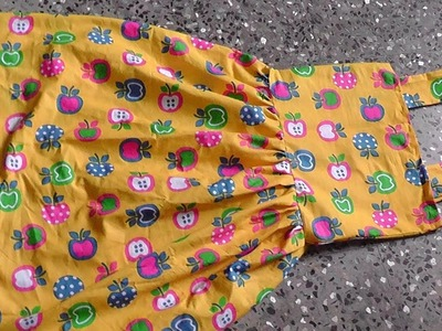 Kids summer simple cotton frock cutting and stitching step by step.