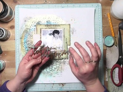 Let's Stick Together - mixed media layout by Kasia Bogatko