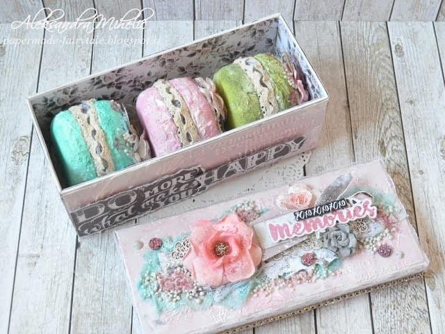Macaron mini album in box with Prima marketing