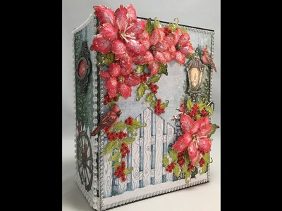 MINI ALBUM TUTORIAL FESTIVE HOLLY PART 3 BY VALERI AT J&S HOBBIES AND CRAFTS