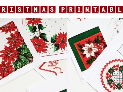 NEW Vintage Linens Printables | Christmas Editions and Baby Journal Cards