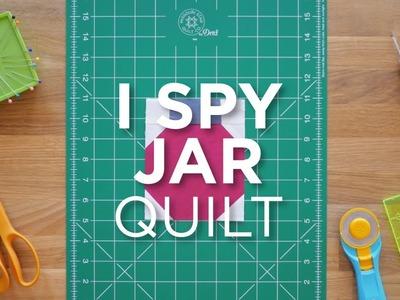 Quilt Snips Mini Tutorial - I Spy Jar Quilt