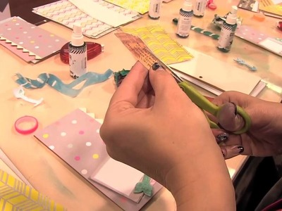 Scrap Time - CHA Winter 2013 - Making a Book with Heidi Swapp