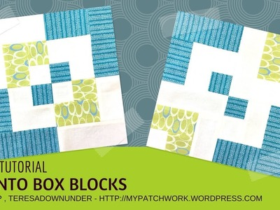 Video tutorial:  2 bento box blocks - quick and easy quilting