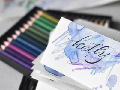 Watercolor Pencil Texture Wash Tutorial