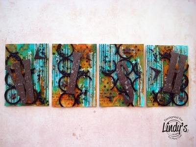 ''Wish'' Mixed Media ATC's for Lindy's Stamp Gang by Mary Catt