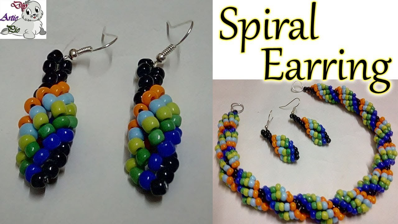 #45 How to Make Spiral Beaded Earrings || Diy || Jewellery Making