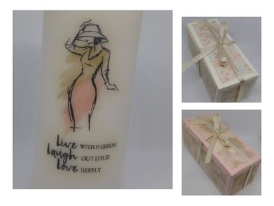 Beautiful You Stamped Candle and Box