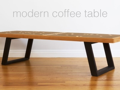 Build A Mid Century Modern Coffee Table. Nelson Bench - Woodworking